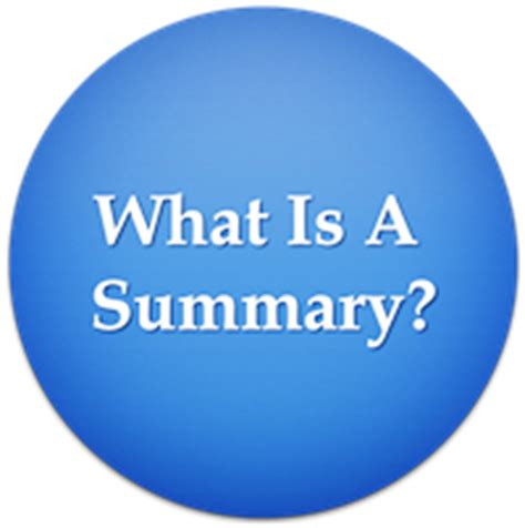 what is a summary