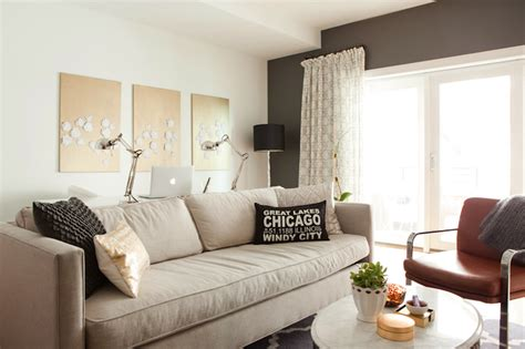 gray accent wall living room kendall charcoal contemporary living room benjamin