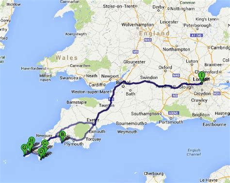map uk cornwall the great road trip to cornwall bruised