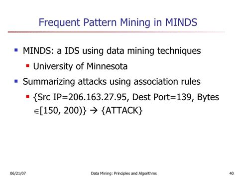 frequent pattern mining adalah data mining and intrusion detection