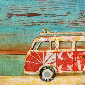 Scripture Wall Art Home Decor Beach Art Print Or Canvas Vintage Volkswagen Vw Van Bus