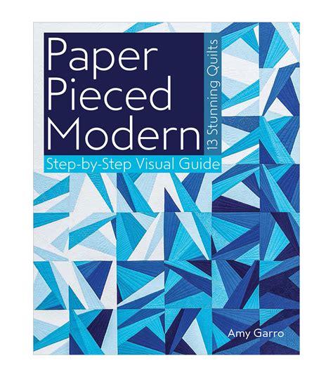 Modern Paper - paper pieced modern book jo