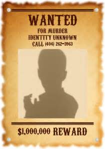 1920s wanted poster template visual assignment wanted sharla hargis