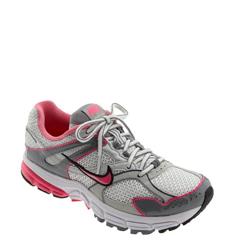 nike silver running shoes nike zoom structure triax 13 running shoe in pink