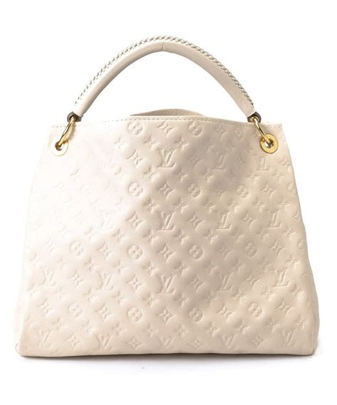 louis vuitton pre owned white monogram empreinte canvas