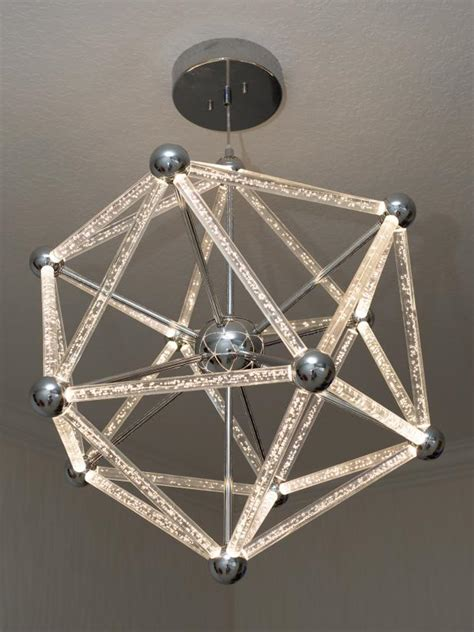 After Photo Led Geometric Light Fixture Photos Diy Geometric Light Fixtures