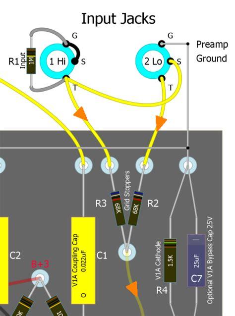 guitar input wiring wiring diagrams