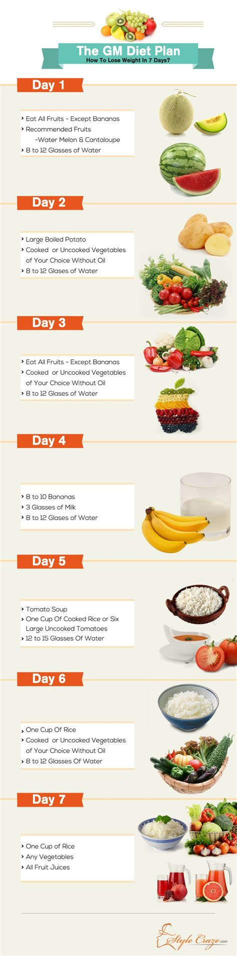Detox Diet Plan For Weight Loss For One Week by The Gm Diet Plan How To Lose Weight In Just 7 Days