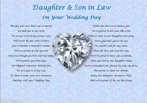 on this the day of my daughters wedding in wedding day poem gift gifts