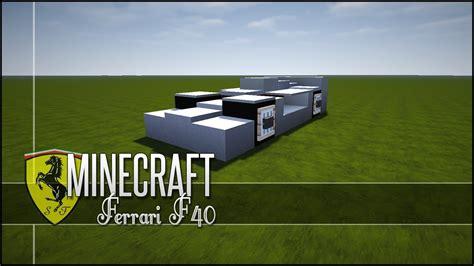 minecraft ferrari minecraft vehicle tutorial ferrari f40 youtube