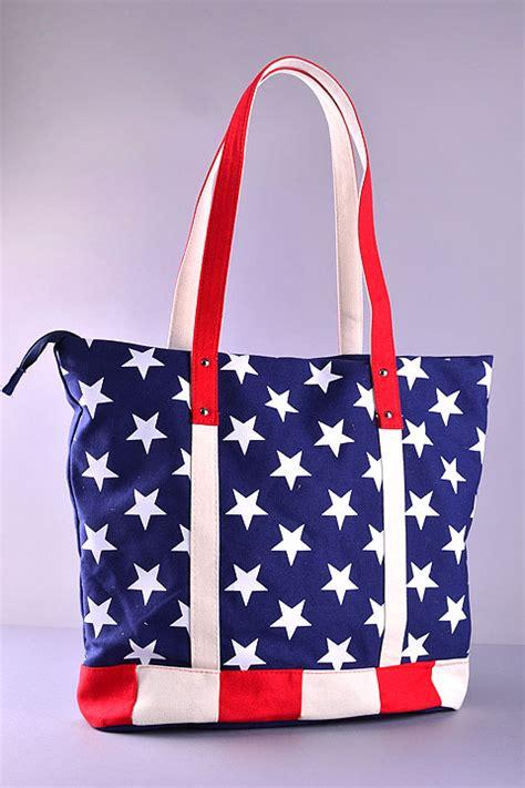 American Tote Bag bijorca american flag tote bag