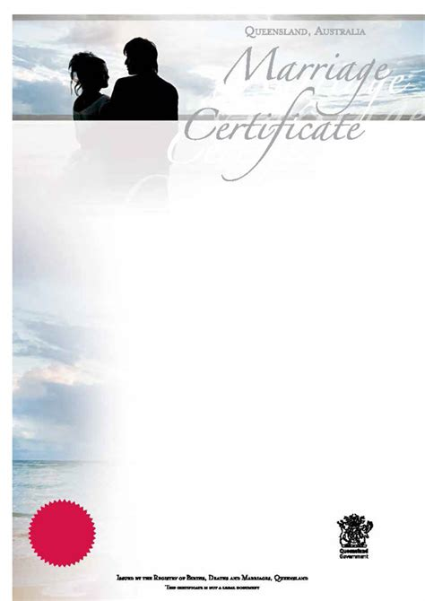 Queensland Marriage Records Commemorative Wedding Certificates Qld Mini Bridal