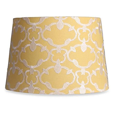 yellow drum l shade buy mix match medium 13 inch embroidered linen drum l