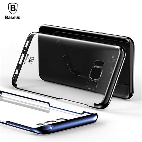 baseus transparent for samsung galaxy s8 cases glitter series plating pc plastic shell