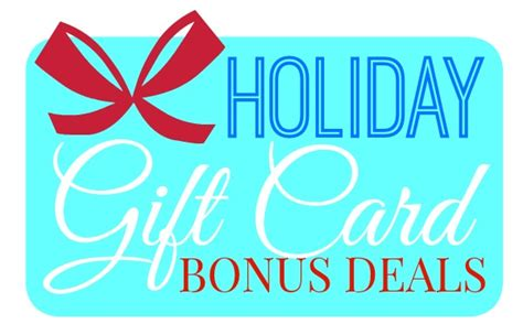 holiday gift card bonus offers we love free