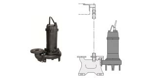 Pompa Ebara 65dl51 5 1 5kw Pompa Celup Air Kotor Sewage With Cutter 1 pompes de relevage fonte eaux us 233 es roue 224 canal ouvert