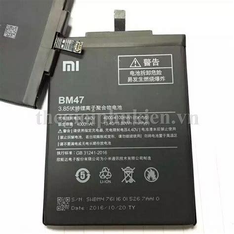 Bateraybaterai Xiaomi Redmi 33s Bm 47 Original Pin Xiaomi Redmi 3 Redmi 3s Redmi 3x Redmi 3 Pro Bm47