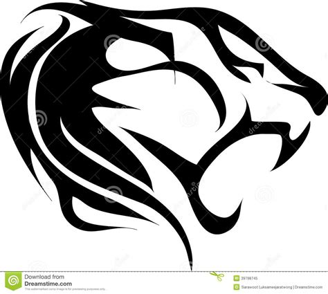 tiger tattoo vintage stock vector image 39798745