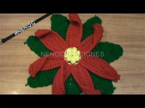 antel de noche buenas a crochet 1 de 2 como tejer base hojas flor nochebuena carpeta