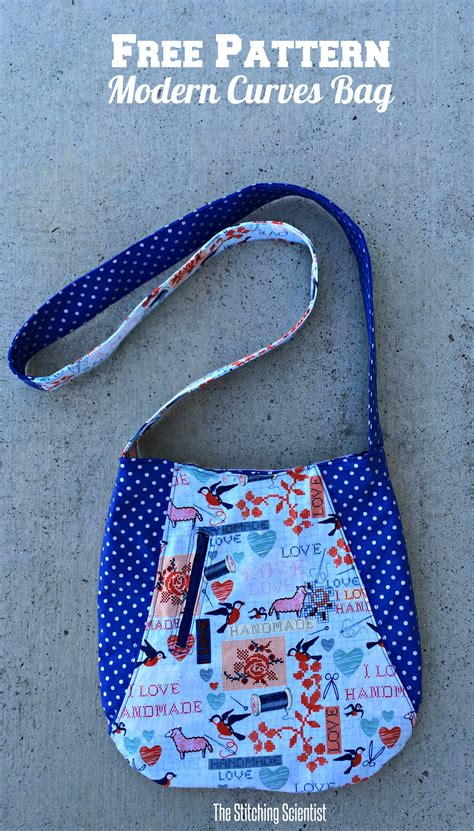 pattern tote bag free modern curves tote bag with free pattern the stitching
