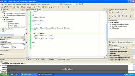 delphi syntax tutorial learning to program delphi tutorial if then else youtube
