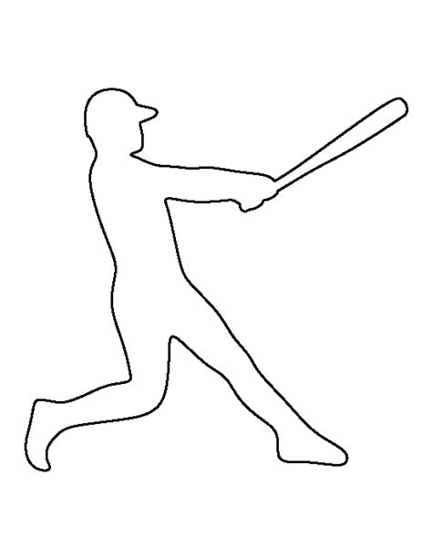 baseball pattern template baseball player pattern use the printable outline for