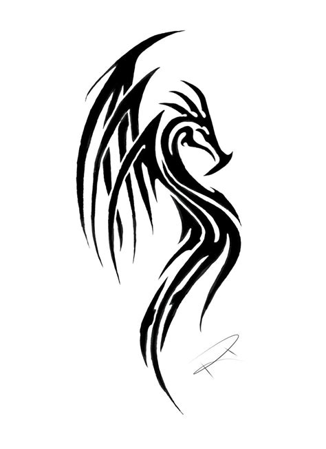 cool tribal dragon tattoo design by dragon tribal