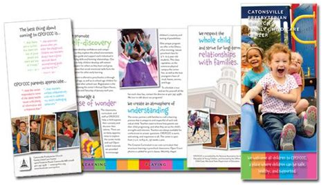 themes for college brochures brochures child care centers and childcare on pinterest
