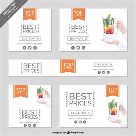 shopping online minimalist banner vector free download