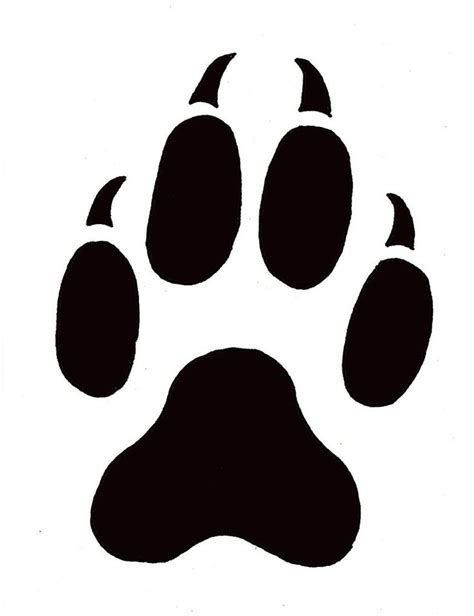 paw print template wildlife stencils free paw prints template free