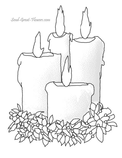 christmas candles images az coloring pages