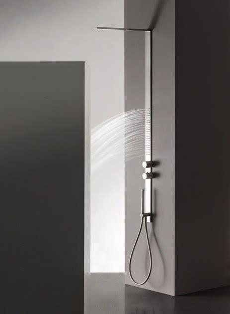 fantini doccia colonna doccia a parete in acciaio inox milanoslim