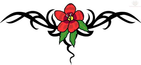 tribal tattoos with flowers lower back images designs
