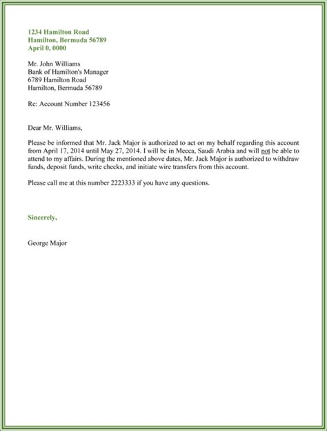 authorization letter format for land letter of authorization sle best letter sle