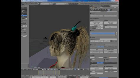 tutorial blender physics blender 2 59 2 6 tutorial particle hair part 1 hair