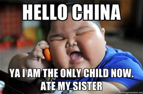 Chinese Baby Meme - redhotpogo fat chinese kid meme 2