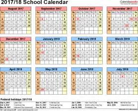 South Korea Kalender 2018 School Calendars 2017 2018 As Free Printable Pdf Templates