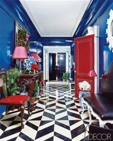 red and blue home decor rooms with lacquered walls designer lacquered walls