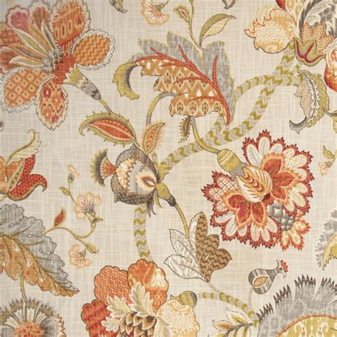 discount drapery fabric by the yard finders keepers spice cotton floral drapery fabric by p