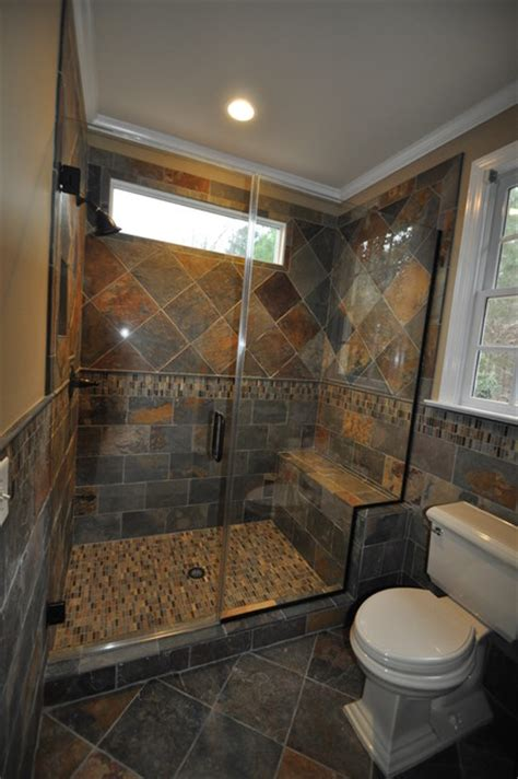 bathroom with slate tile cary guest bath remodel slate traditional bathroom