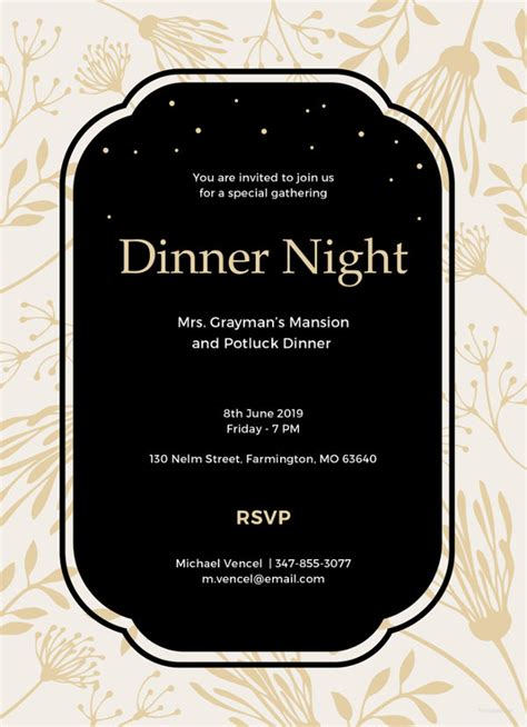 dinner invitation template 40 dinner invitation templates free sle exle