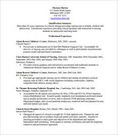 Nursing Resume Template Pdf Sle Nursing Cv 7 Documents In Pdf Word