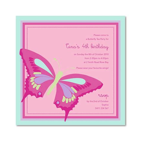 Butterfly Birthday Invitation Cards Butterfly Birthday Invitations Quotes
