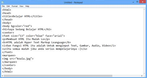 cara membuat web notepad cara membuat web sederhana menggunakan html gratis banget