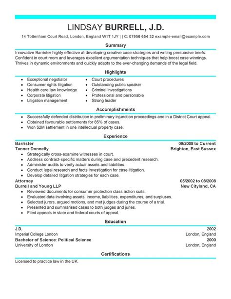 Attorney Resume Examples   Legal Resume Samples   LiveCareer