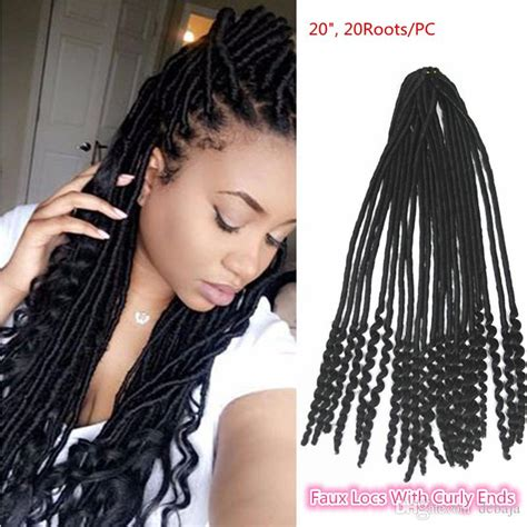 how to curl the ends of synthetic braids newest synthetic stylish faux locs with curly ends crochet