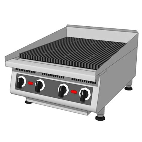 Commercial Kitchen Broiler by Comm Kitchen Broiler 3d Model Formfonts 3d Models Textures
