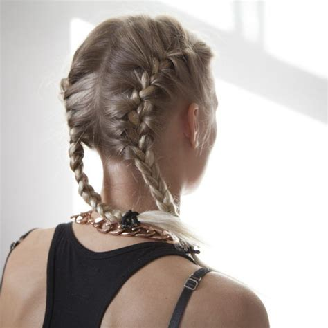 back to school hairstyles plaits how to do two french braids on the side of your head on