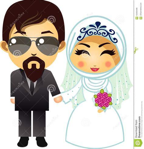 Muslimah Wedding Vector by Muslim Wedding Vector Illustration Cartoondealer