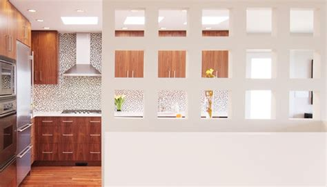 kitchen partition wall designs love the partition wall did you use any special lighting